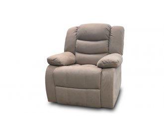 Кресло с реклайнером Эшли серое