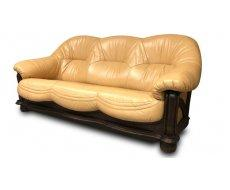 Кожаный диван Хаммер бежевый