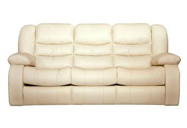 >Кожаный трехместный диван Манхэттен с реклайнером