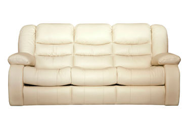 Кожаный трехместный диван Манхэттен с реклайнером