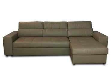 >Кожаный угловой раскладной диван Флорида